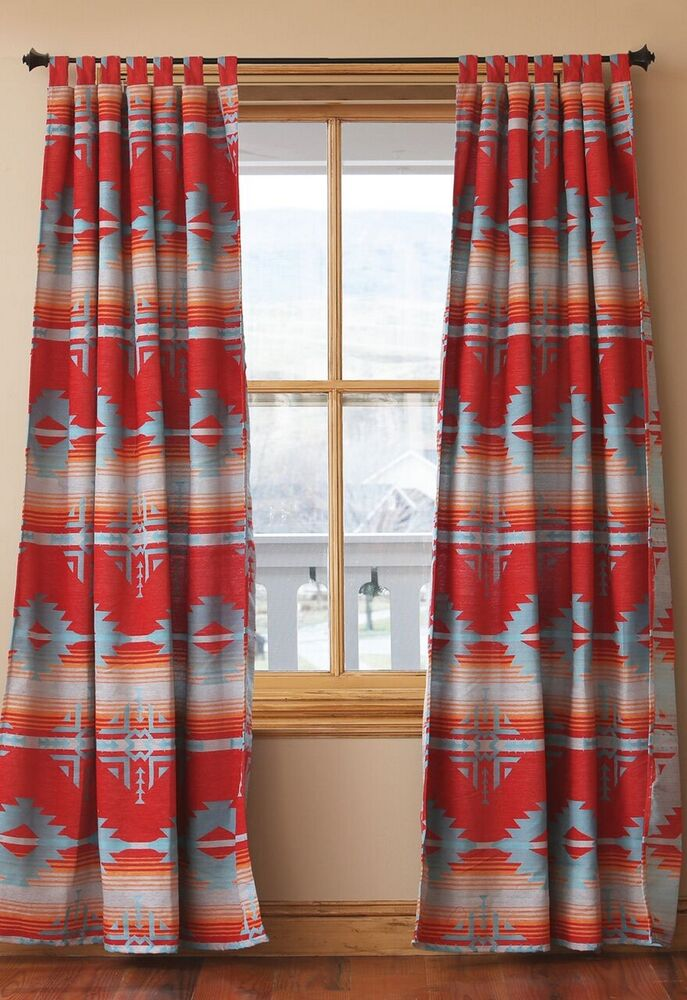 Red Branch Tab Top Drapes -Western