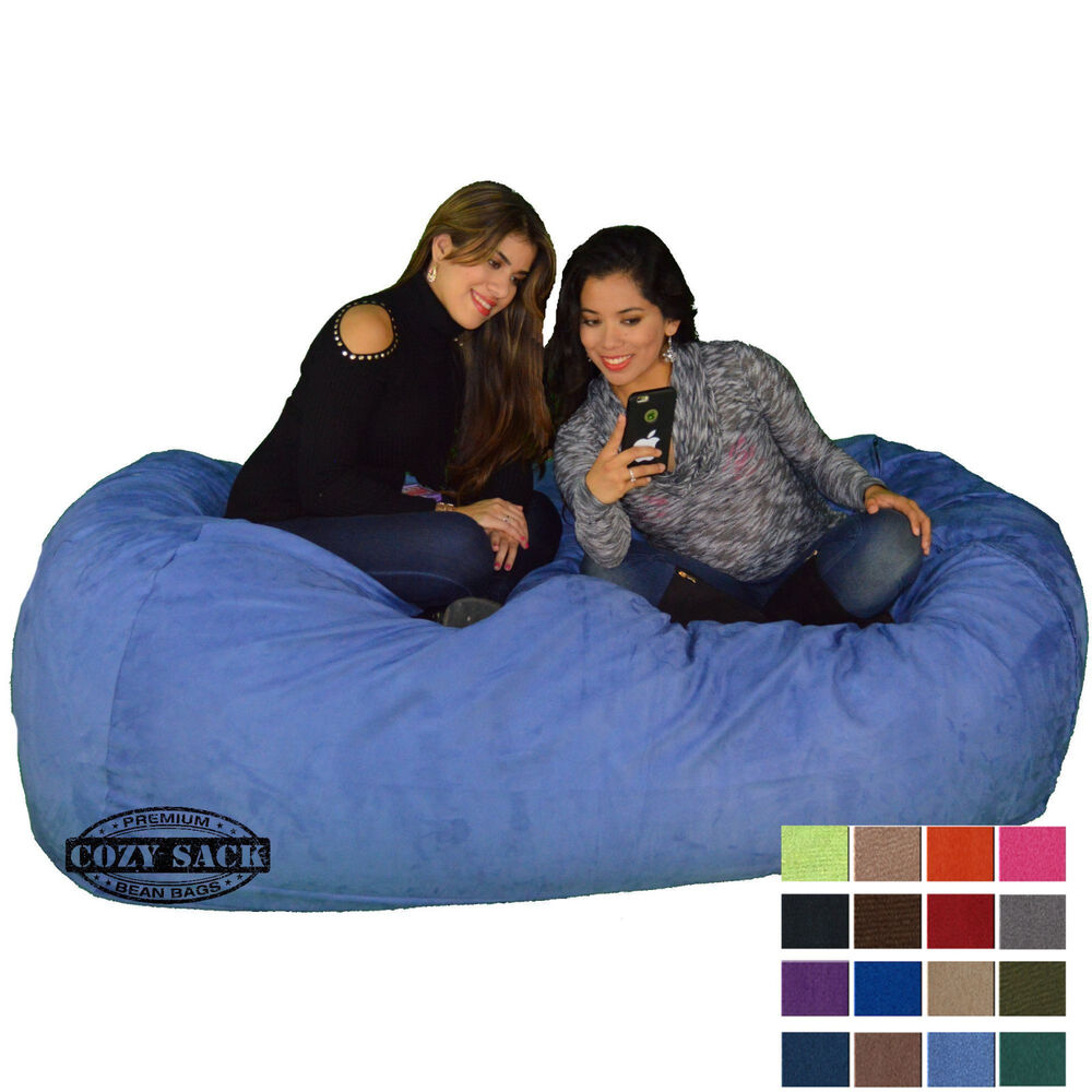 Bean Bag Chair 7 Foot Cozy Bean Bag Sack N740 Pick Your