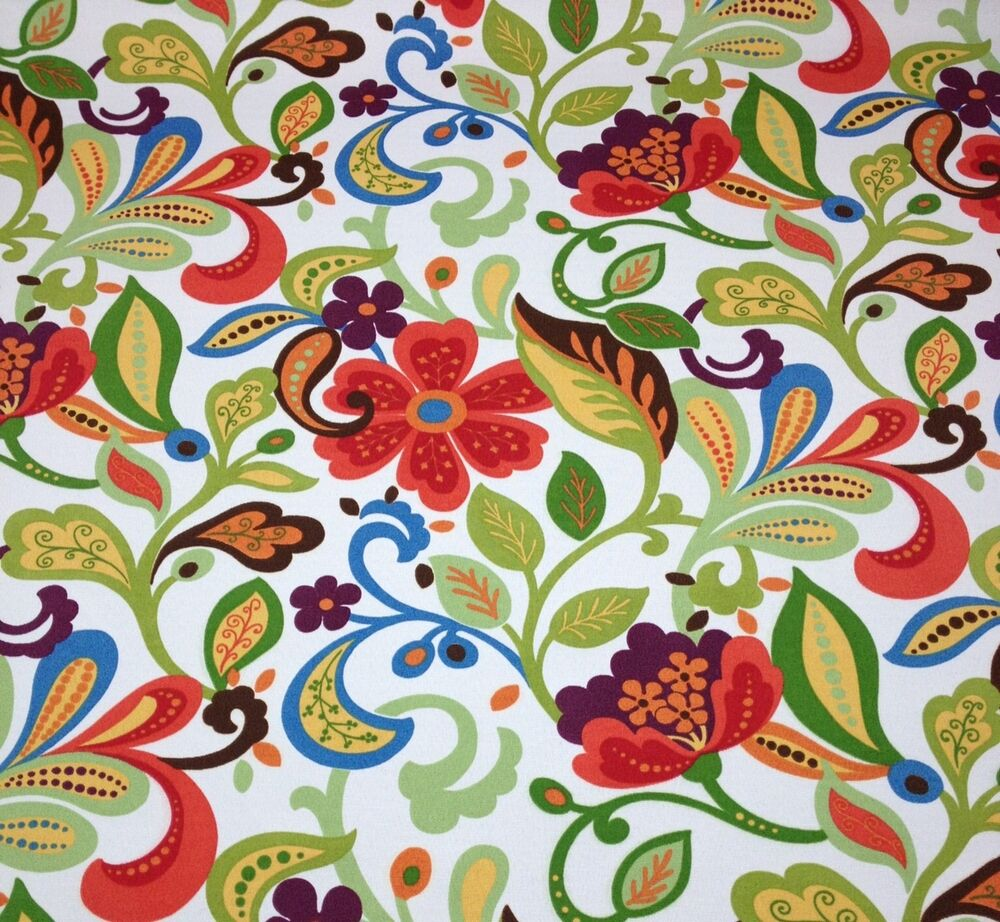Richloom wildwood garden green abstract floral outdoor for Outdoor fabric by the yard