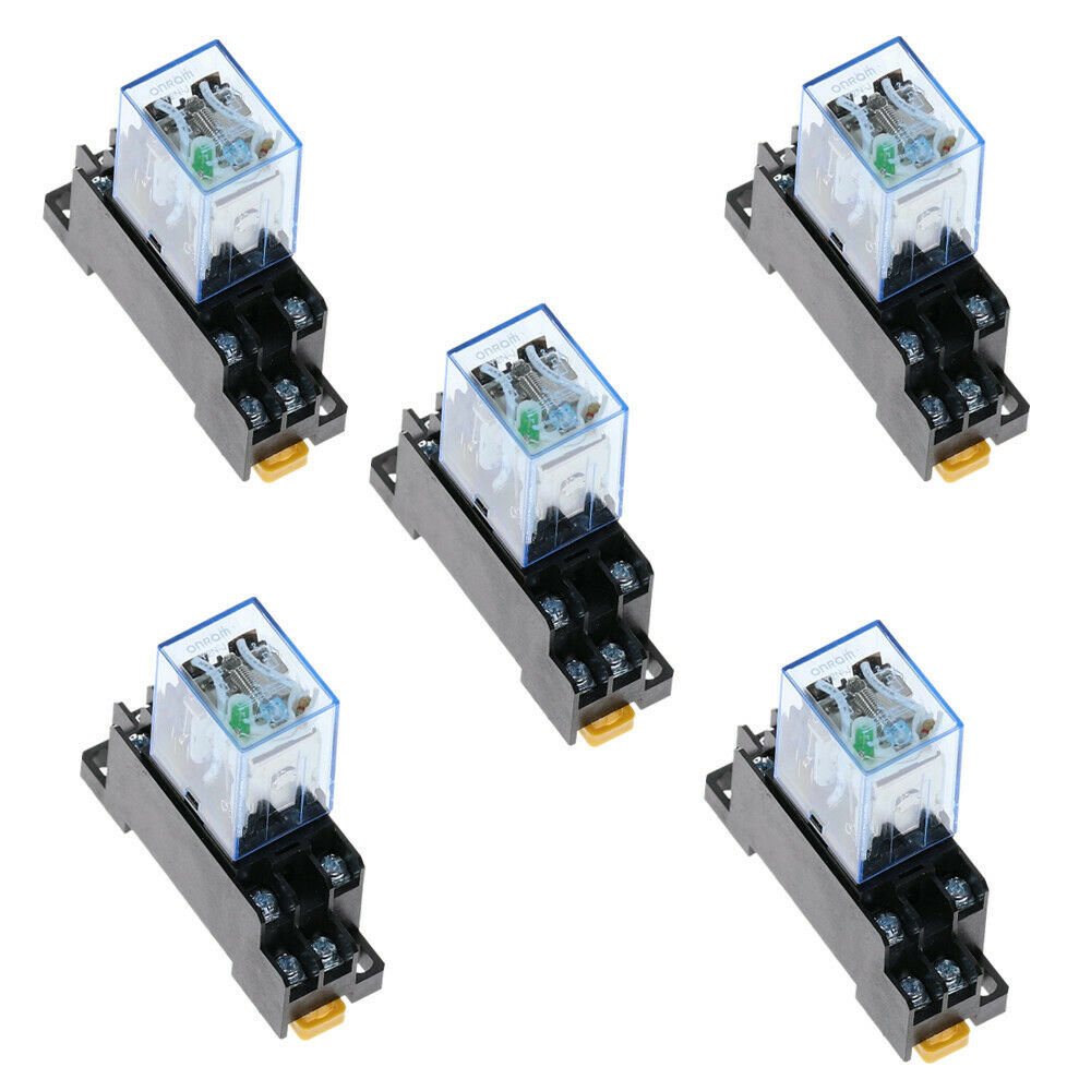5pcs Relay Ly2nj 24v Dc Small Relay 10a 8pin Coil Dpdt