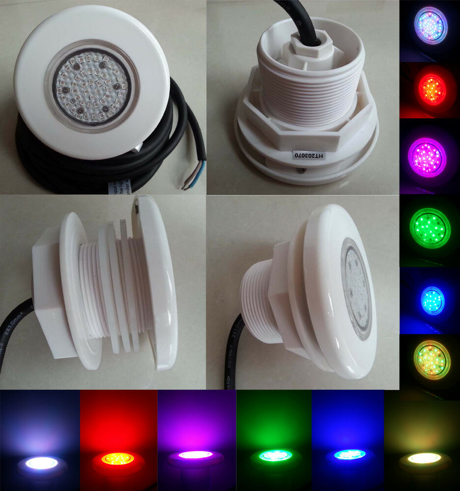 underwater led swimming pool light smd5w rgb for 2 inch. Black Bedroom Furniture Sets. Home Design Ideas