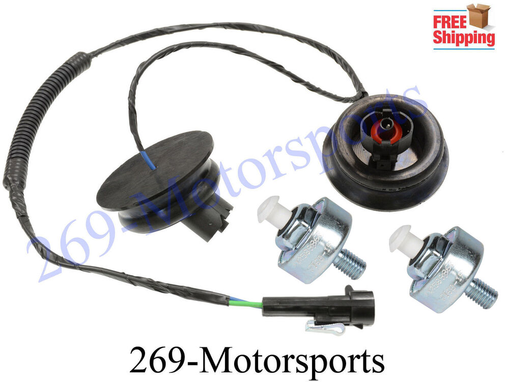 engine knock sensor harness with sensors fits cadillac