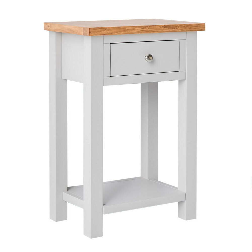Foyer Table With Granite Top : Farrow painted hall table with oak top stone
