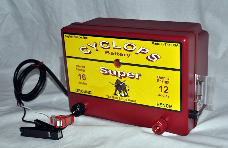 Cyclops Super Battery Powered 12 Joule 12 V Electric