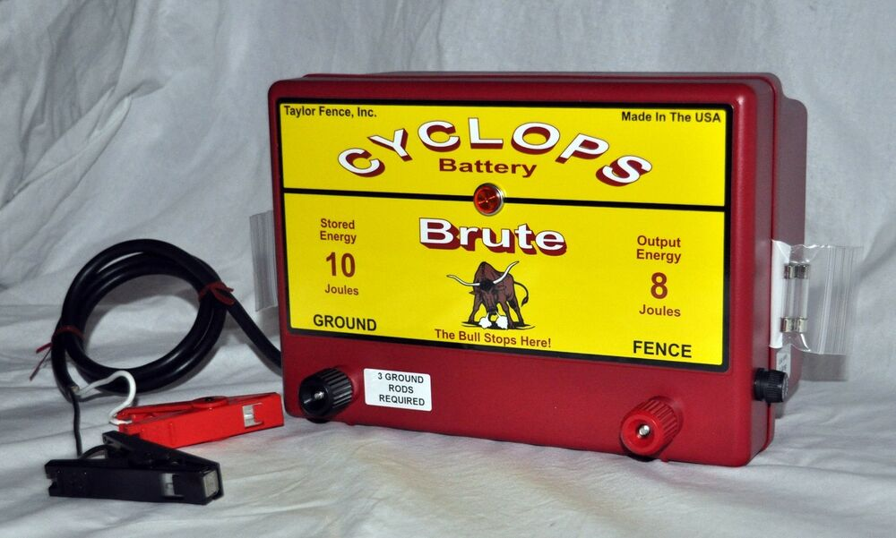Cyclops Brute Battery Powered 8 Joule Electric Fence