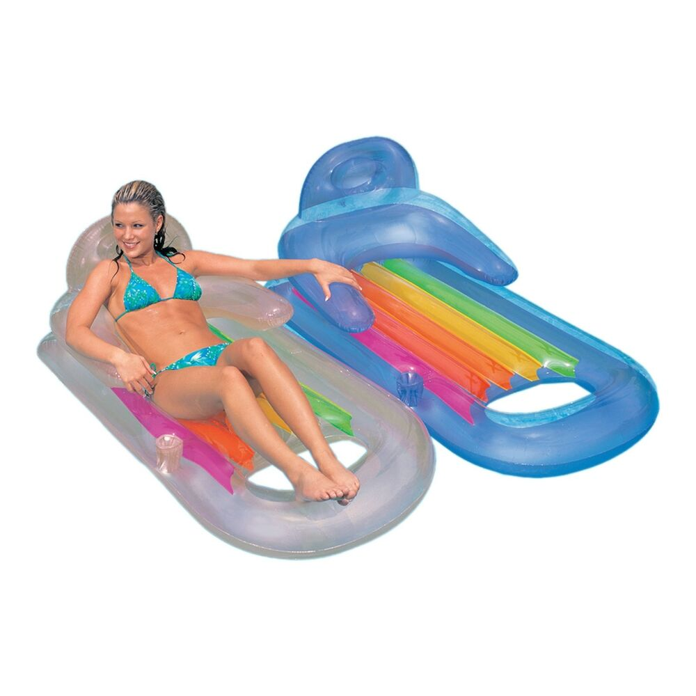Pool Float Inflatable King Kool Lounge Raft Tube Intex Ebay