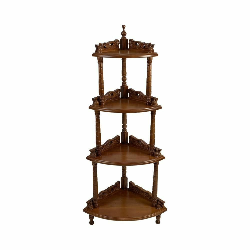 Corner Exhibition Stands Zone : Solid mahogany wood corner stand display antique