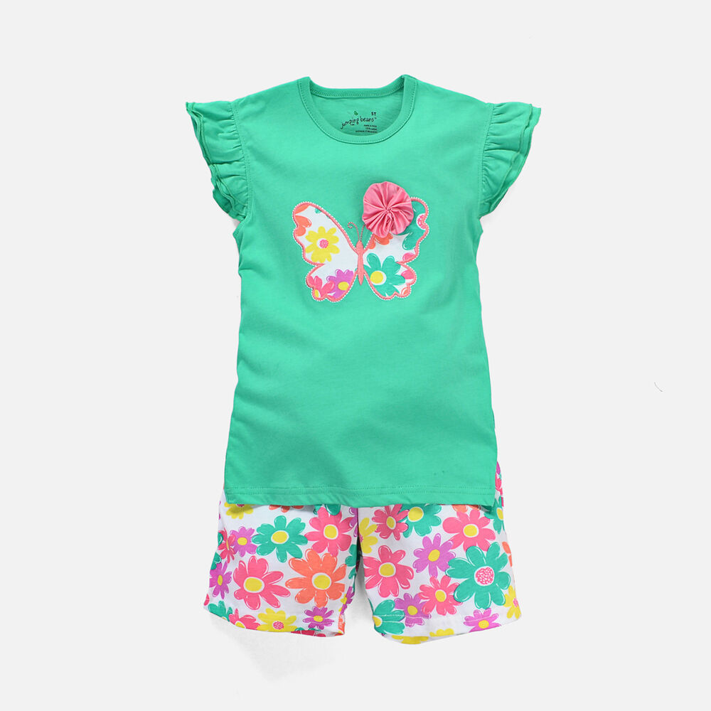 Baby Toddler Children Girls Clothes New T-shirt+Shorts ...