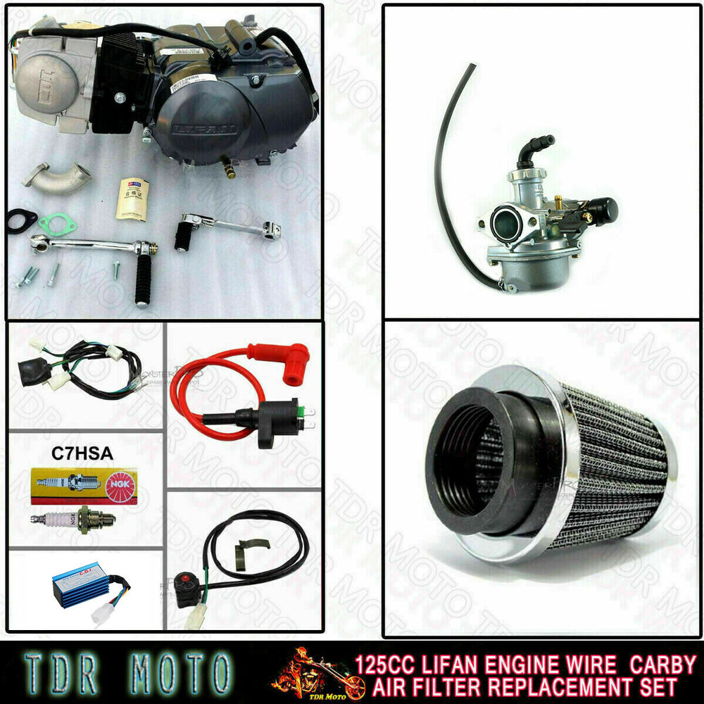 125cc Motorbike Engine Filter Wire Carby Manual Clutch Dirt Pit Bike Lifan Wiring Harness Set Ebay