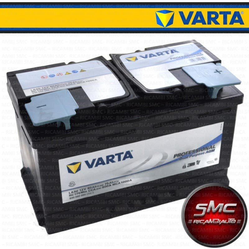batteria auto varta professional dual purpose agm 80ah 800a bmw serie 1 ebay. Black Bedroom Furniture Sets. Home Design Ideas