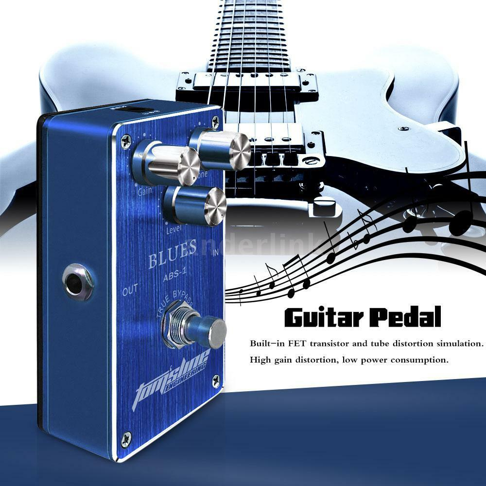new aroma abs 1 blues distortion effect pedal w true bypass for electric guitar ebay. Black Bedroom Furniture Sets. Home Design Ideas