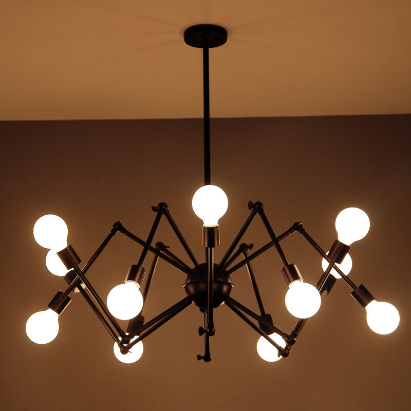 Pendant llight spider industrial retro ceiling lamp vintage lighting chandelier ebay - Chandelier ceiling lamp ...