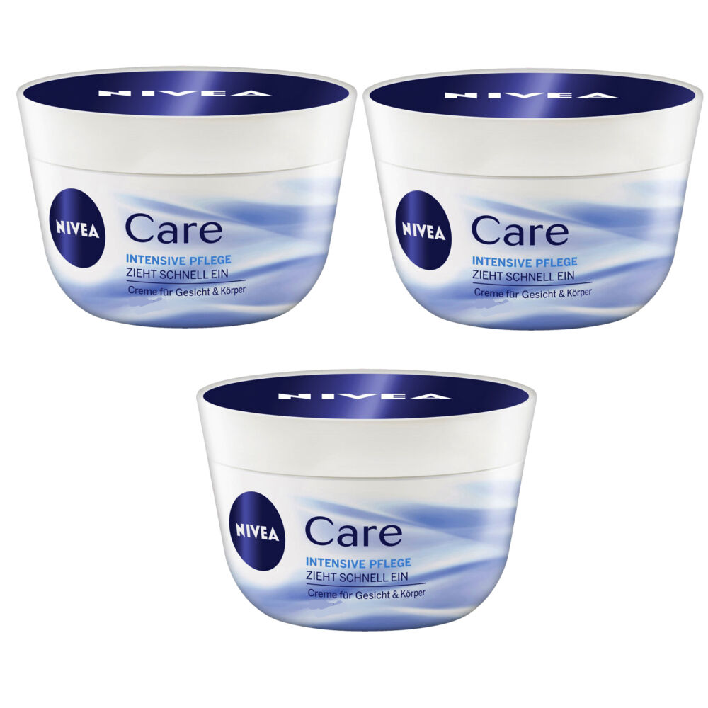 7 55 100ml 3x 50ml nivea care intensive pflege creme. Black Bedroom Furniture Sets. Home Design Ideas