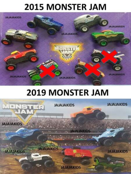 McDonald's 2019 & 2015 MONSTER JAM - Pick your toy - FREE SHIPPING