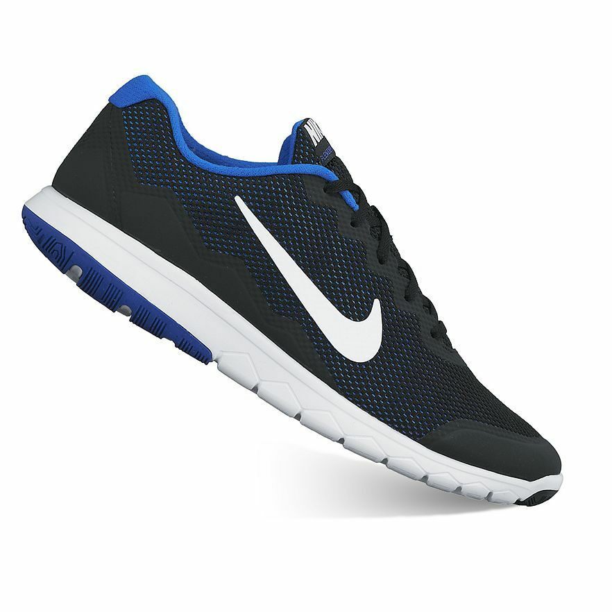 4e3e19942cf40 Details about NEW Nike Flex Experience Run 4 Men s Running Shoes US 10.5  Black White Blue