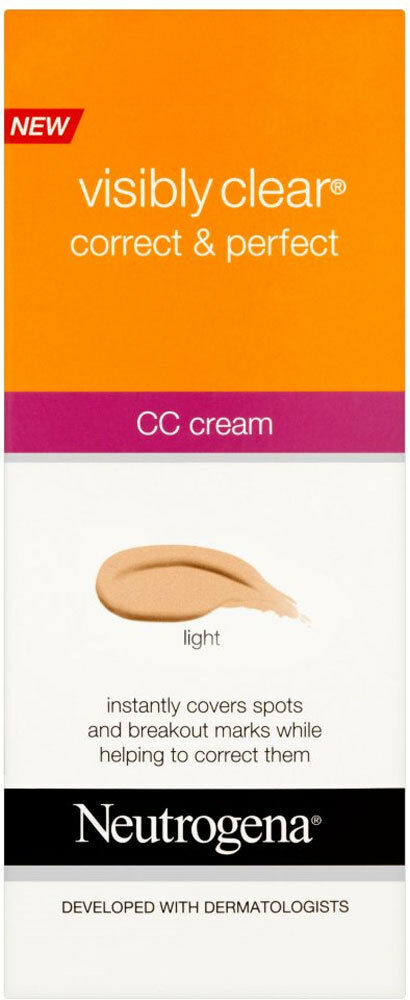 Neutrogena Visibly Clear Correct & Perfect CC Cream - Light (50ml) *S*  | eBay