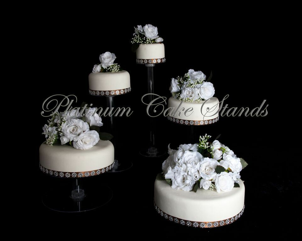 5 tier cascade wedding cake stand style r500 a ebay. Black Bedroom Furniture Sets. Home Design Ideas