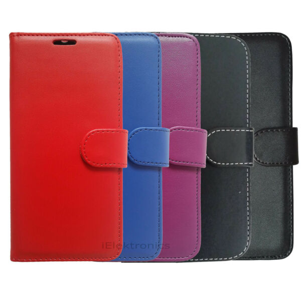 LEATHER CASE COVER POUCH MAGNETIC BOOK FLIP WALLET FOR VARIOUS SAMSUNG MODELS