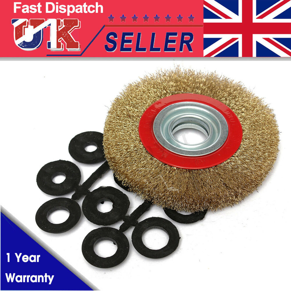 6 Inch 150mm Fine Wire Brush Wheel With 10pcs Adaptor