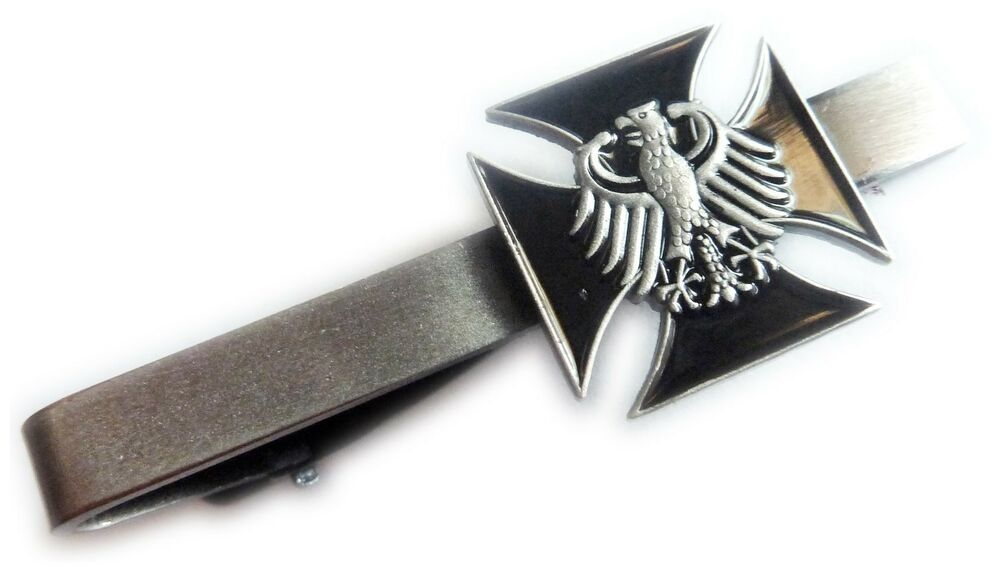 Ribbon Tie Bar : Germany german ww replica iron cross eagle military army