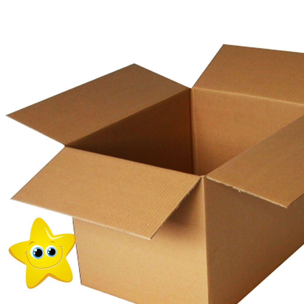 20 x large cardboard storage packing boxes 24x18x18 sw ebay. Black Bedroom Furniture Sets. Home Design Ideas