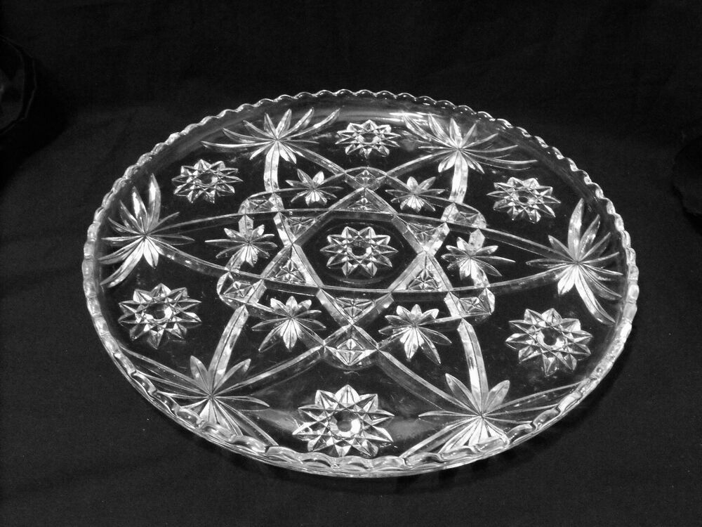 Clear Glass Round Serving Platter