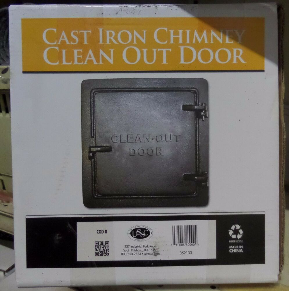 United States Stove Chimney Cleanout Doors 8 In. X 8 In