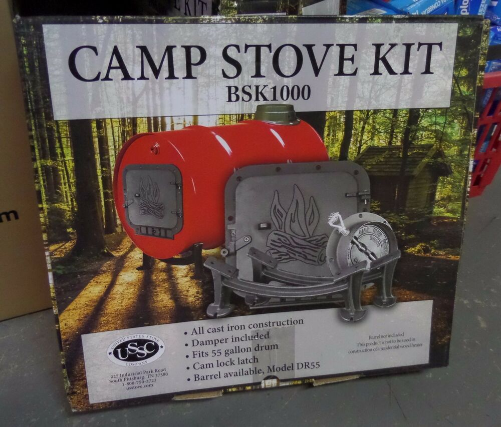 United States Stove Company Iron Barrel Stove Kit BSK1000 ...