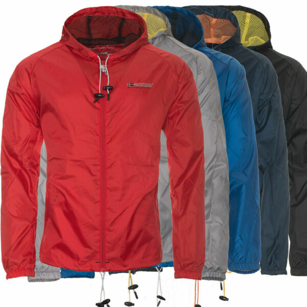 e5e79dbae8f32b Geographical Norway Herren Regen Jacke Übergangs Windbreaker Outdoor  Regenjacke