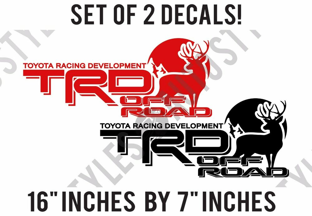 Toyota Tacoma 4x4 Accessories Toyota TRD Truck Off-Road 4x4 Racing Deer Hunting Tacoma Decal Vinyl ...
