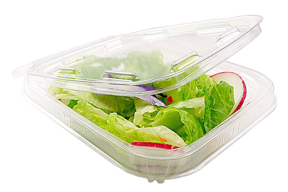 Inline 8 Oz Clear Hinged Deli Container W Tamper