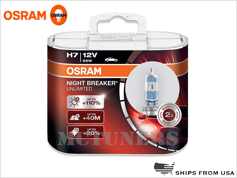 new osram night breaker unlimited nbu h7 bulbs 110 lights 55w made in germany ebay. Black Bedroom Furniture Sets. Home Design Ideas