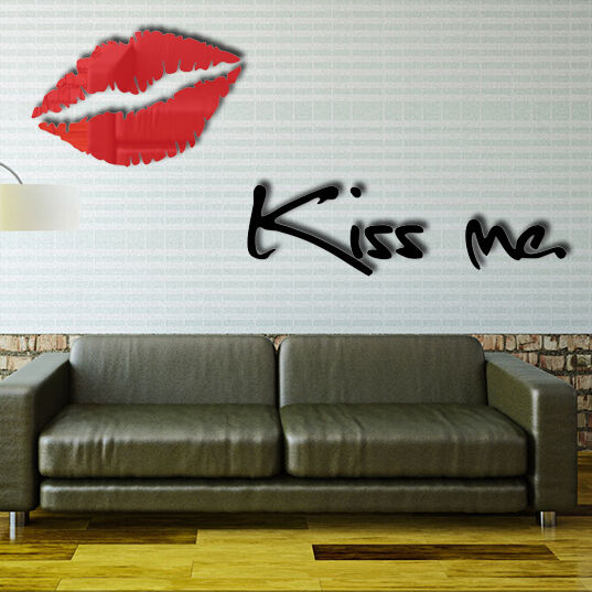 Removable letter lips acrylic wall sticker diy art vinyl for Home decor online shopping usa