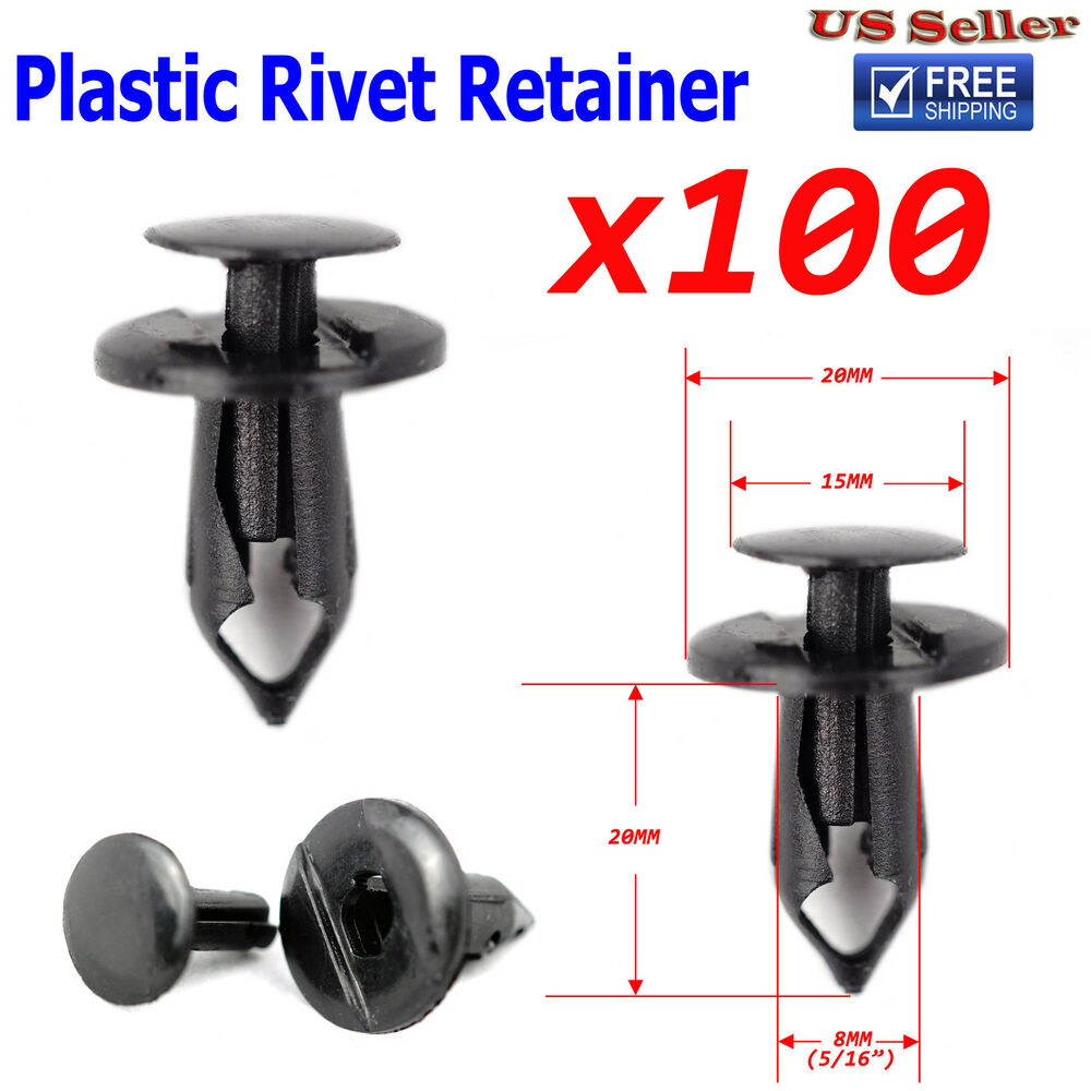 Mm hole push in plastic rivets retainer clips car