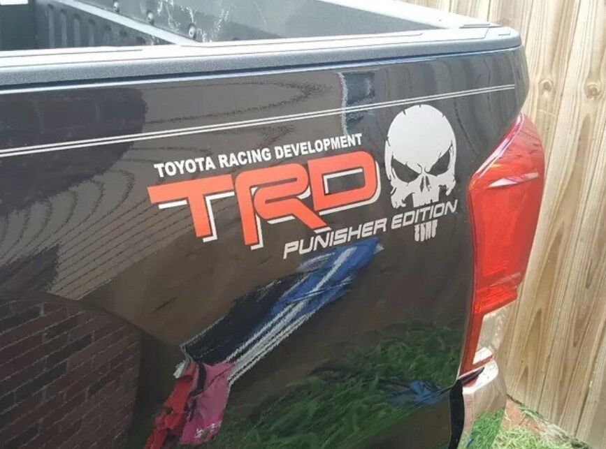 Truck Car Decal 2 Trd Punisher Edition 2 Color Vinyl