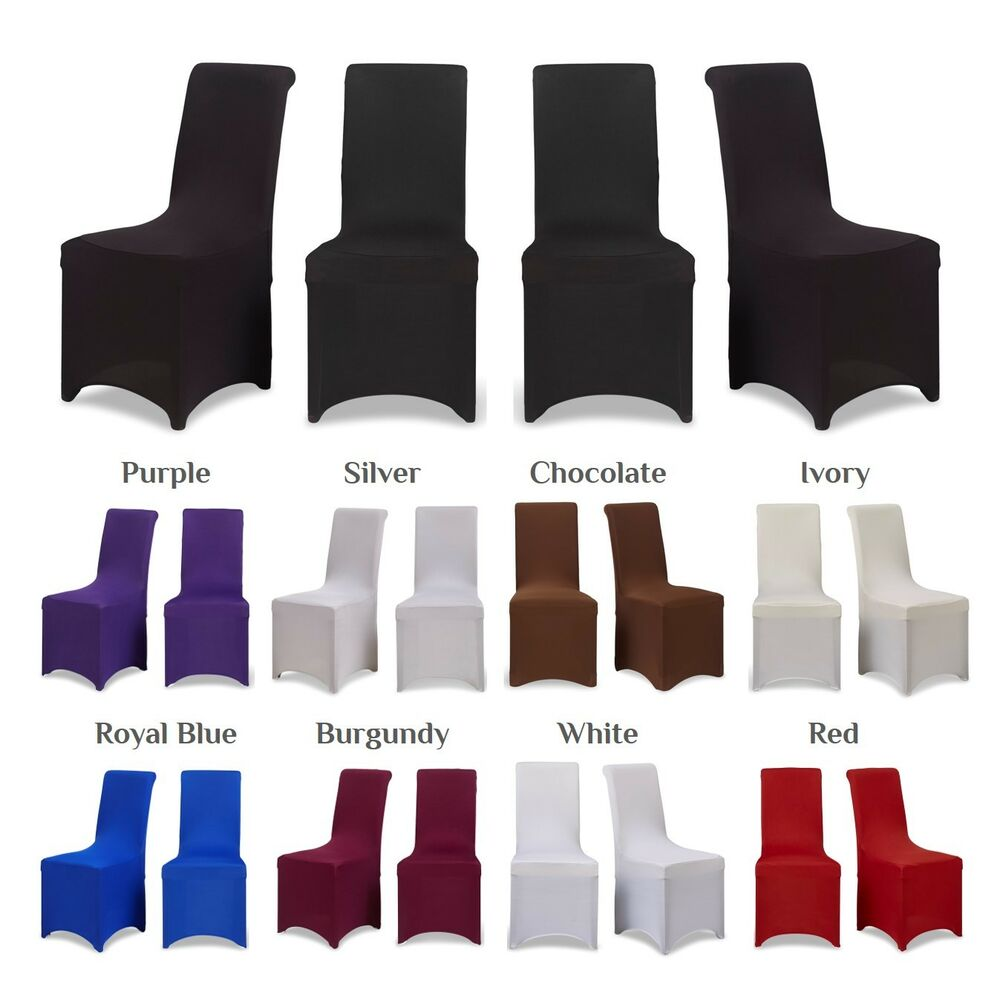 white square back spandex chair cover lycra stretch chair co