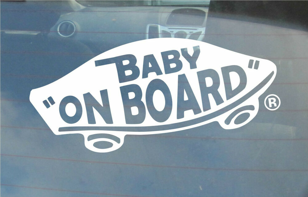 INTERNAL Baby On Board Classic Vans U0027Off The Wallu0027 Sticker For Vehicles U0026  More | EBay Part 80