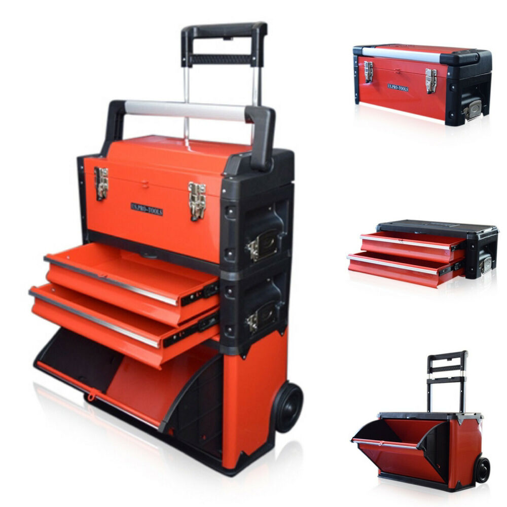 315 Us Pro Tools Red Mobile Rolling Chest Trolley Cart