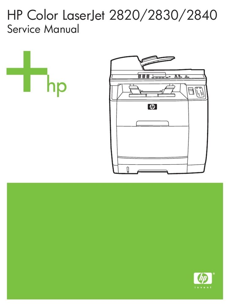 hp color laserjet 2820 2830 2840 printer service manual parts rh ebay com HP Color LaserJet CP3525dn Transfer Unit HP Color LaserJet CP3525dn Parts