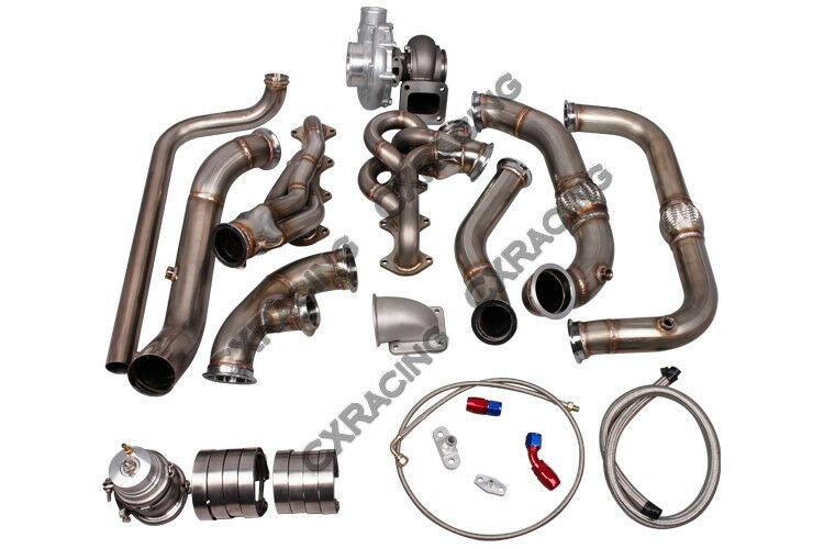 cx turbo manifold header downpipe kit for 09 14 ford f150 f 150 expedition 5 4l ebay. Black Bedroom Furniture Sets. Home Design Ideas