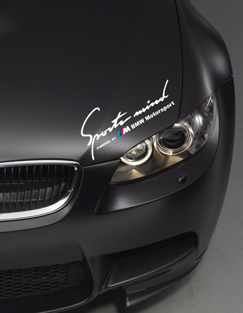bmw sports mind powered m motorsport wei aufkleber decal. Black Bedroom Furniture Sets. Home Design Ideas