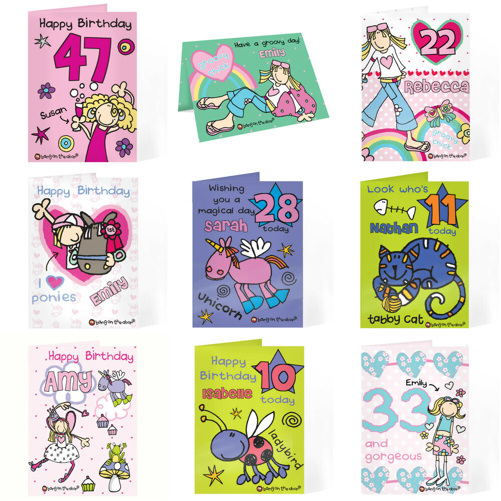 Http Www Edsfashions Co Uk Gift Ideas For Girls Age 10: Personalised Birthday Card For Girls Women Ladies Any Name