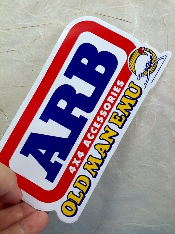 Old Ford Trucks Decals : Quot arb old man emu jeep ford toyota sticker decal car