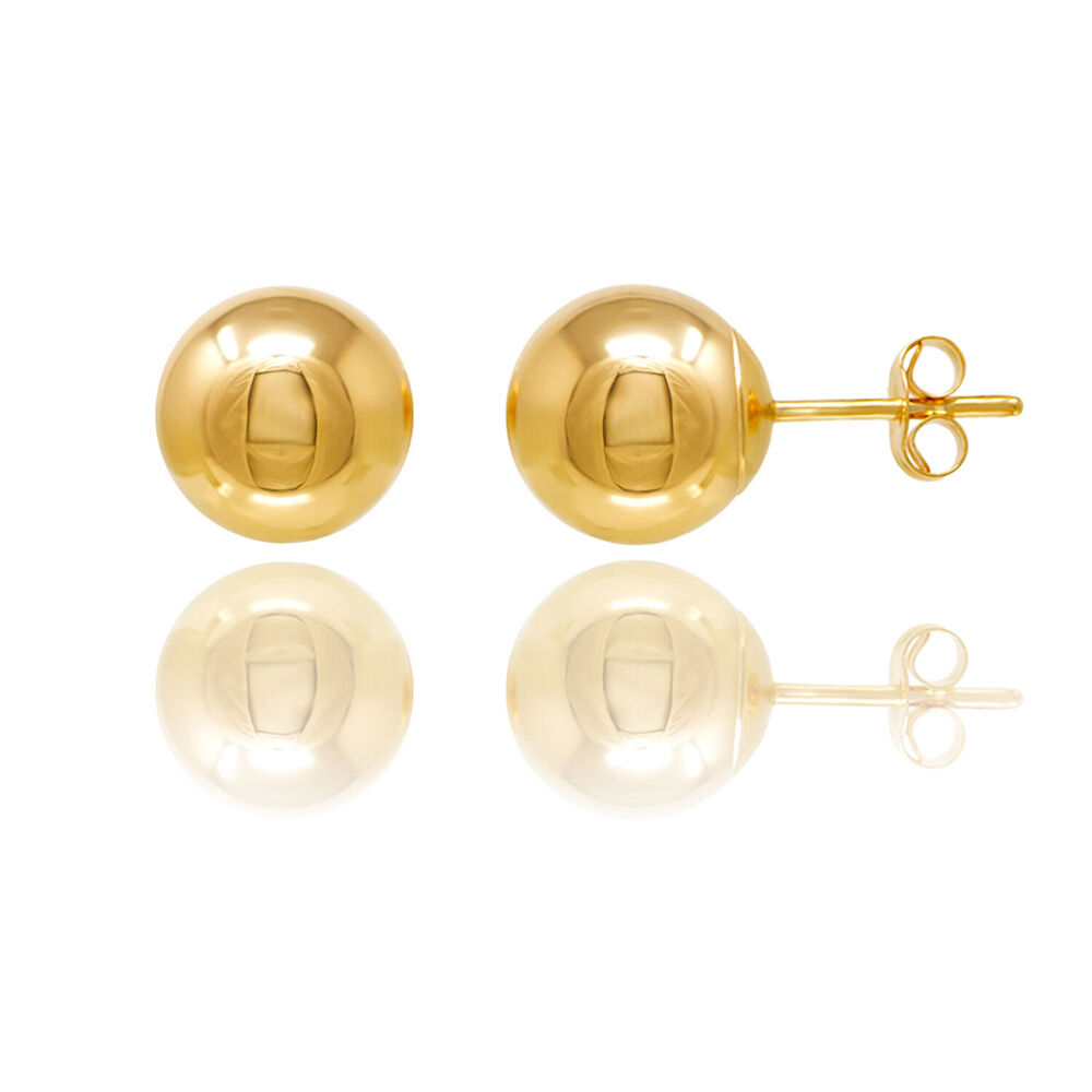 14kt gold ball stud earrings with butterfly pushbacks free
