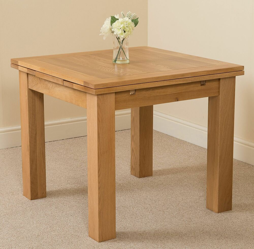 Richmond solid oak wood small cm extending dining