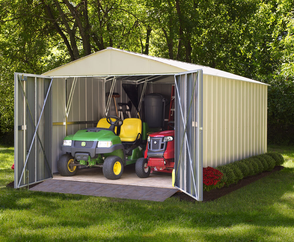 Arrow commander galvanized steel shed 10 39 w x 10 39 l with 8 for Garden shed 12x10