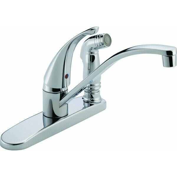 Peerless Single Handle Kitchen Faucet With Spray No