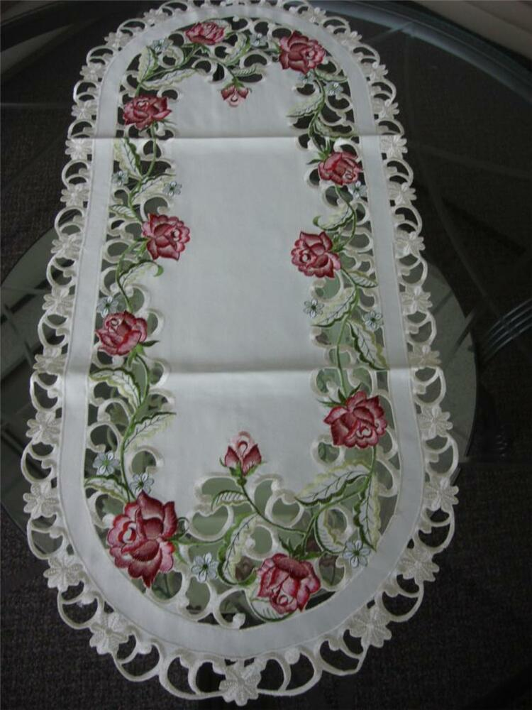 16 Quot X54 Quot Embroidered Tableclothes Dining Table Runner