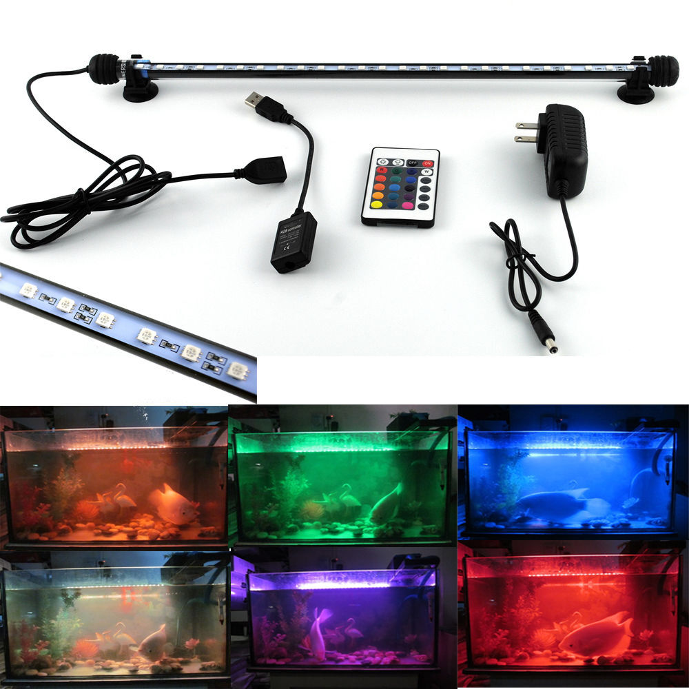 waterproof remote led aquariums lamp diving light fish. Black Bedroom Furniture Sets. Home Design Ideas