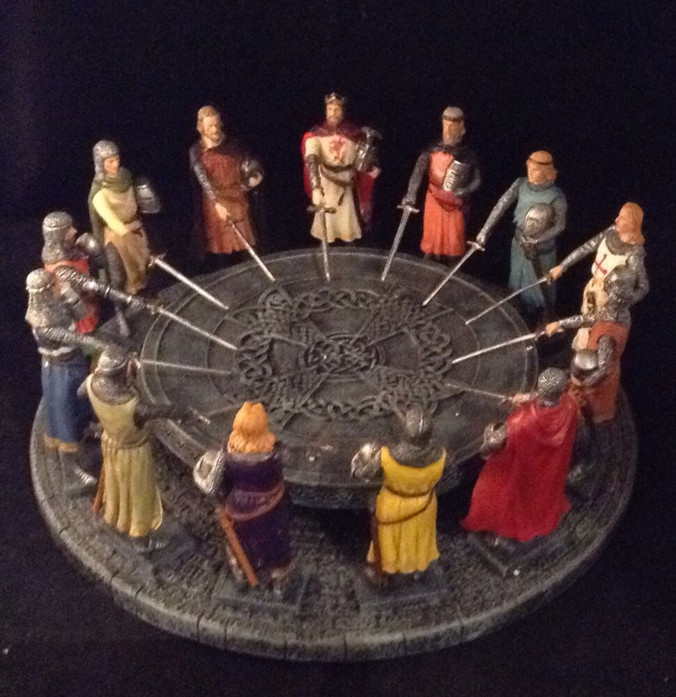 Knights of the round table king arthur medieval sculpture resin fantasy ebay - Knights of the round table lego ...